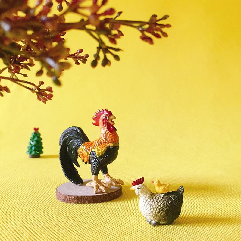 1 шт./Петушок/курица с цыпленком/фэнтезийные миниатюрные/милые животные/Сказочный Садовый Гном/мох Декор террариума/ремесла/Бонсай/модель/игрушка