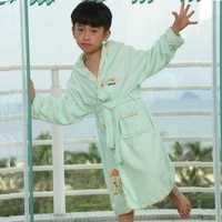 high quality bathrobes kids big boys 100 cotton hooded pajamas spring summer autumn warm sleepwear mother robe cartoon robes