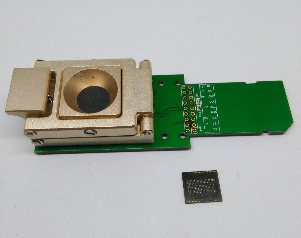 eMCP_14x18 SD adapter,BGA162 BGA186 socket,for eMCP read and data recovery,Nand flash test socket,aluminium alloy,clamshell