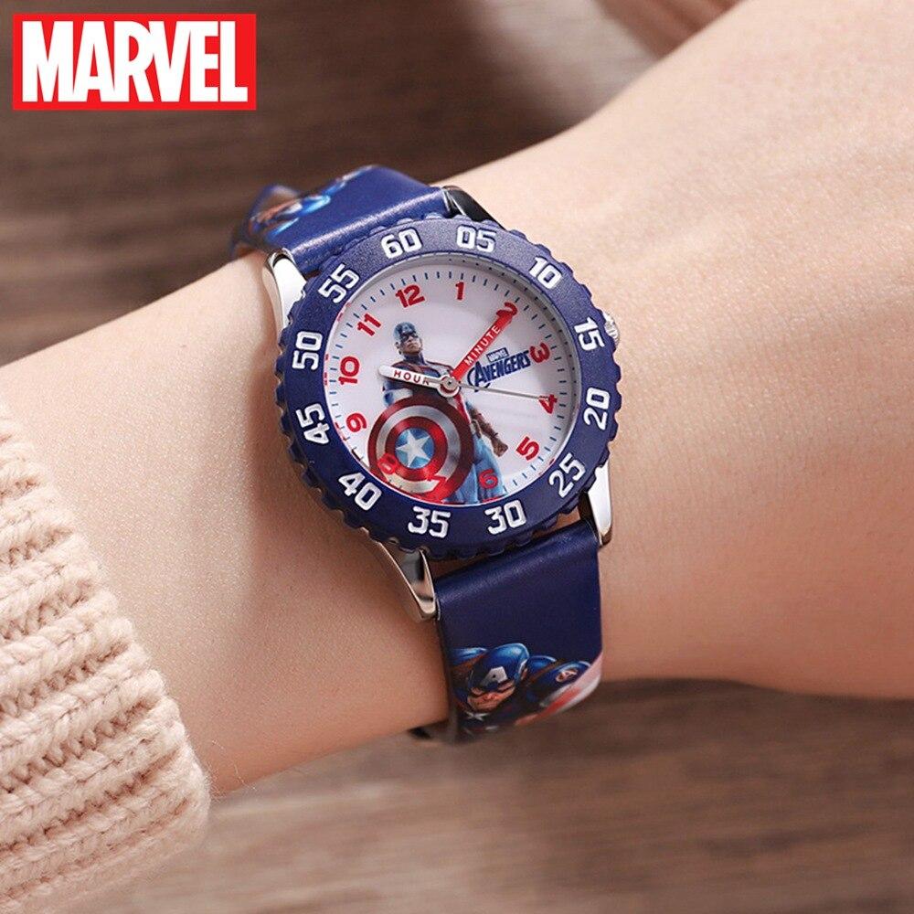 Marvel avengers capitão américa preto homem de ferro crianças relógio disney banda de quartzo à prova dwaterproof água digital mostrar relógios relógio estudante