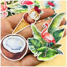 35pcs cute cartoon animal flamingo stickers Nordic plant DIY scrapbook album gift bag card diary crafts decorative stickers