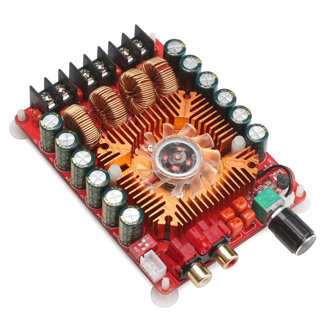 TDA7498E 2X160W Dual Channel Audio Amplifier Board, Support BTL Mode 1X220W Single Channel, DC 24V Digital Stereo Power Module