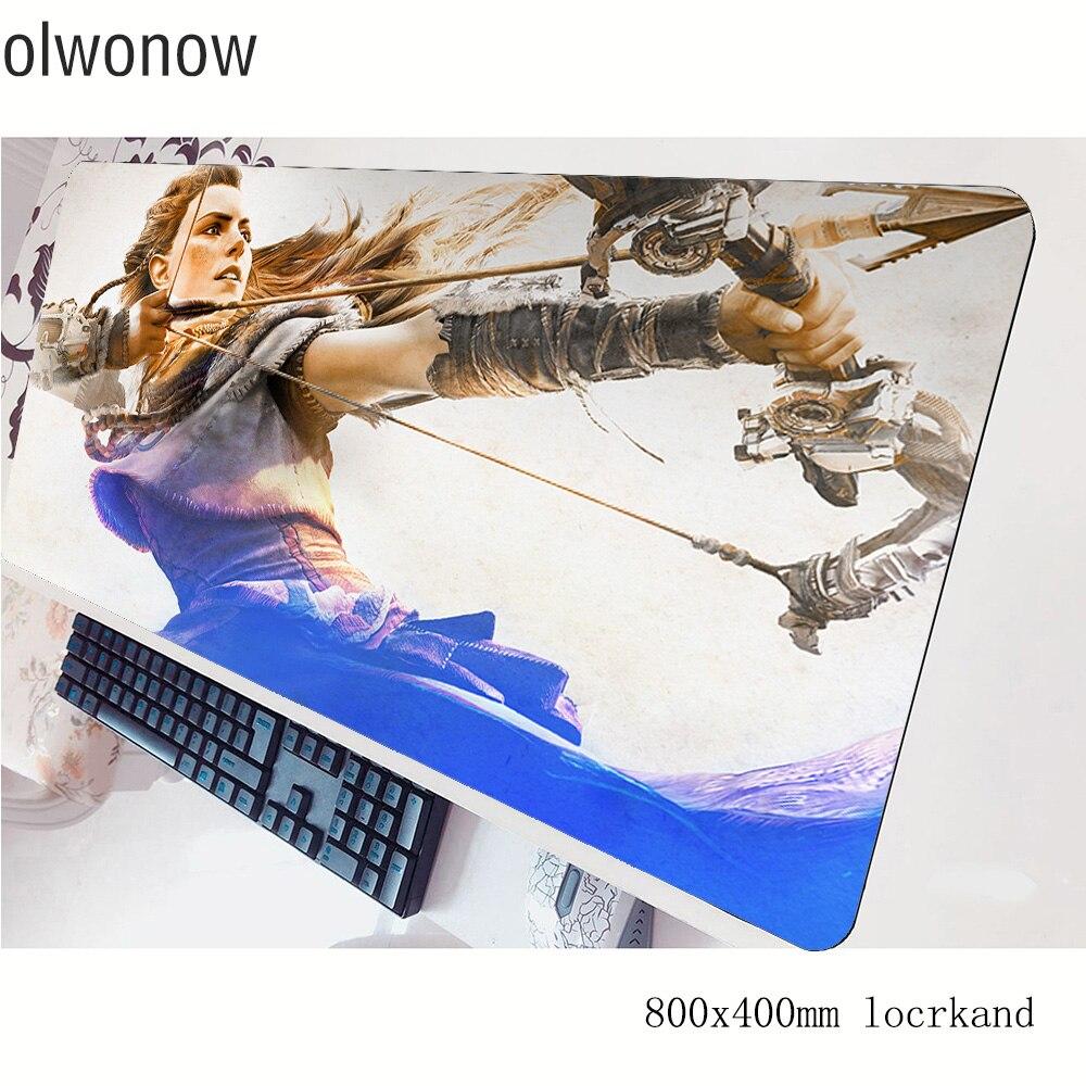 Alfombrilla de ratón horizon zero dawn de gama alta 800x400x3mm, alfombrilla de ratón para juegos, accesorios para portátiles, alfombrilla ergonómica para ordenador portátil