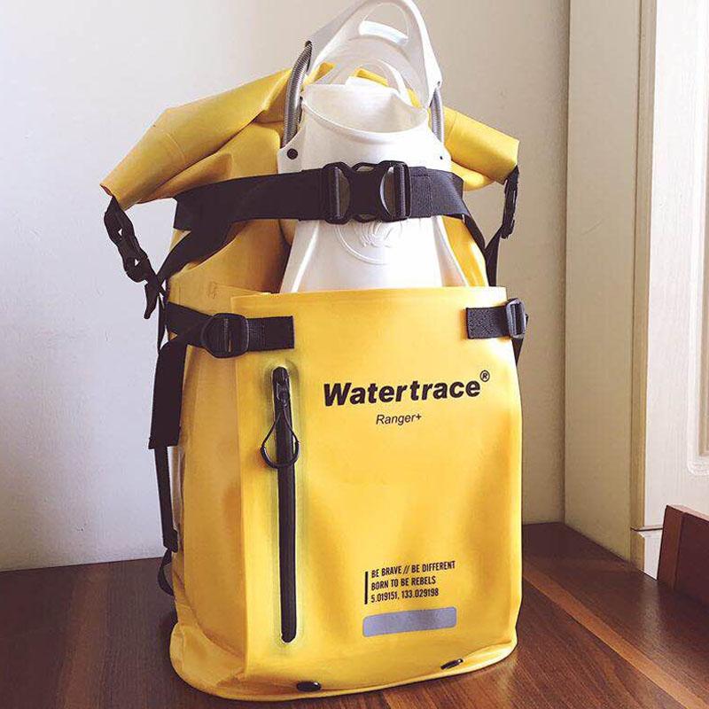 Watertrack مقاوم للماء على ظهره الغوص حقيبة زعانف غطس على ظهره نهر الرحلات زعانف للغطس الغوص الزعانف حقيبة