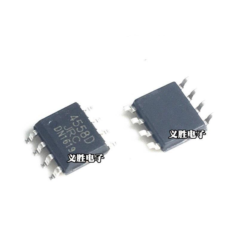 Jrc4558d sop sop8 njm4558d 4558 smd 4558d jrc44558 duplo op amp sop8 ic chip
