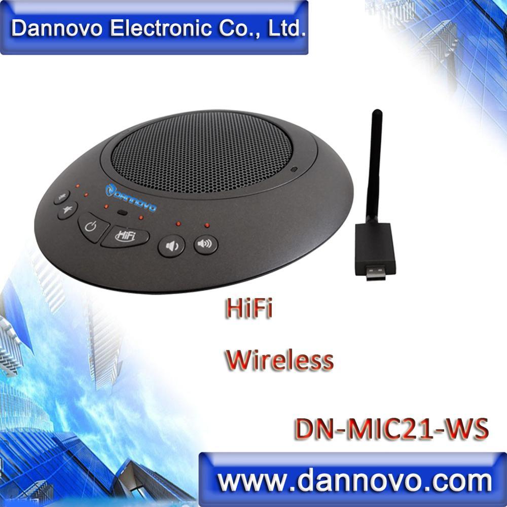 DANNOVO-ميكروفون مؤتمرات الفيديو ، 2.4G ، USB ، الإلغاء البيئي ، لنظام التشغيل Windows ، MAC ، Skype ، hemc ، شحن مجاني