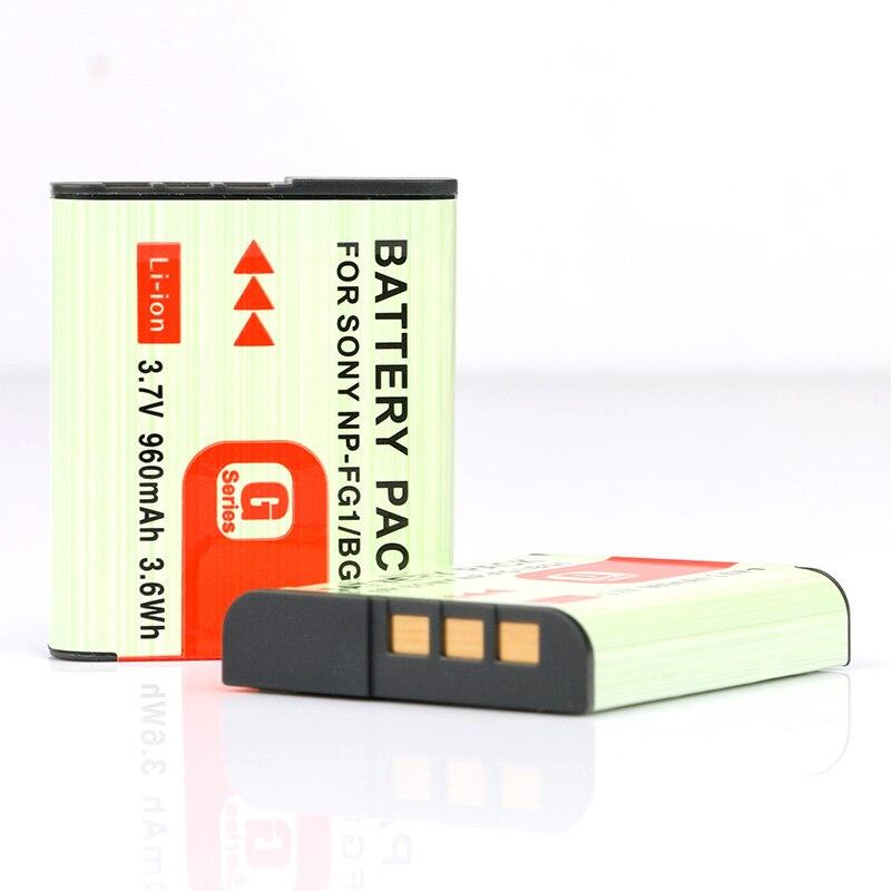 LANFULANG Pack de 2 NP-BG1 NP-FG1 NP BG1 FG1 cámara Digital baterías para Sony DSC-HX30 DSC-N1 DSC-N2 DSC-T20 DSC-T100 DSC-W30