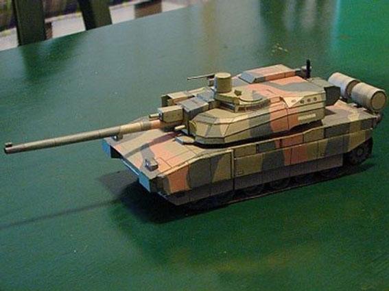 Tanques de Batalha Leclerc 3 D Modelo de Papel DIY