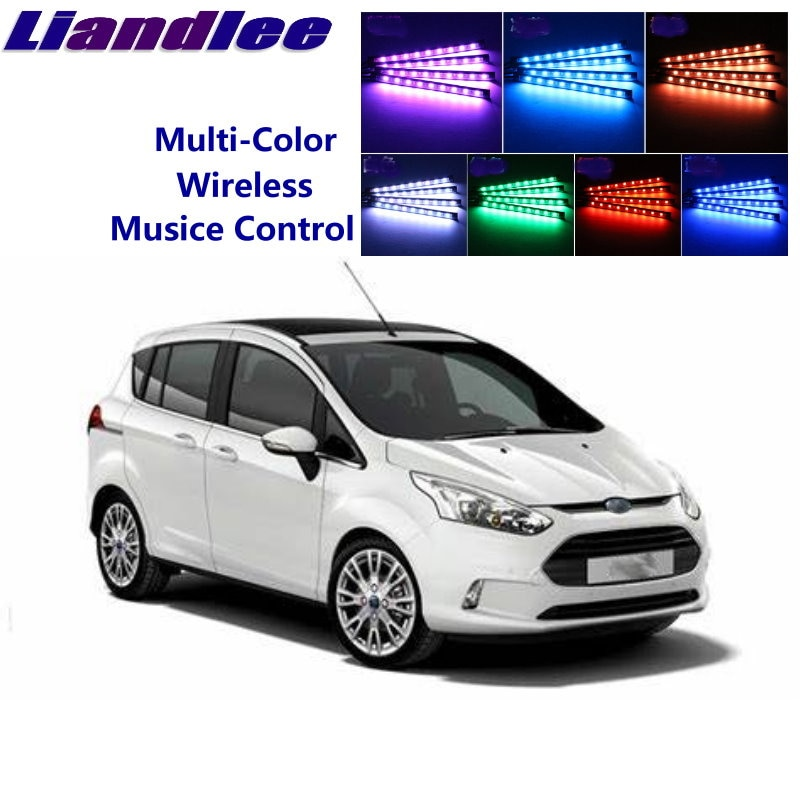 LiandLee, brillantes para coche Interior, asientos decorativos de Ambiente, luz de neón ambiental para Ford b-max B Max BMax 2012 ~ 2015