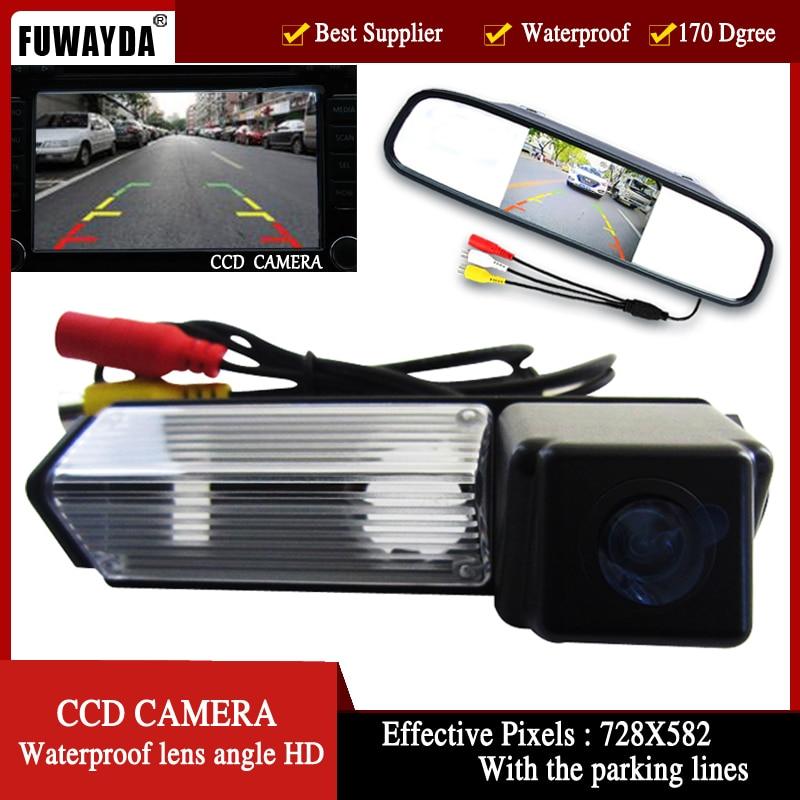 FUWAYDA Color vista trasera de coche cámara para Mitsubishi Challenger Grandis Nativa Pajero Sport 4,3 pulgadas Monitor de espejo retrovisor