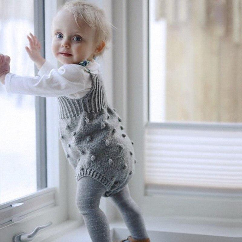 Детский комбинезон, комбинезон для новорожденных, одежда без рукавов для маленьких мальчиков, осенняя трикотажная повседневная одежда для маленьких девочек