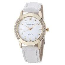 2020 TOP Luxury Brand Leather Crystal Quartz Watch Women Ladies Fashion Bracelet Wrist Watch Female