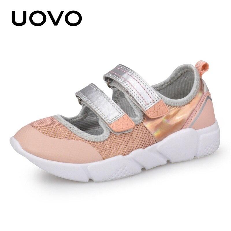 Летние детские туфли для девочек, легкие весенне-летние спортивные туфли на мягкой подошве для школы, балерины, модельные туфли для маленьких детей, европейские размеры #25-37