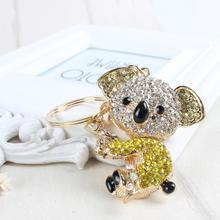 Koala oso amarillo colgante lindo cristal bolso llavero mujeres en ropa y accesorios regalo Substantial