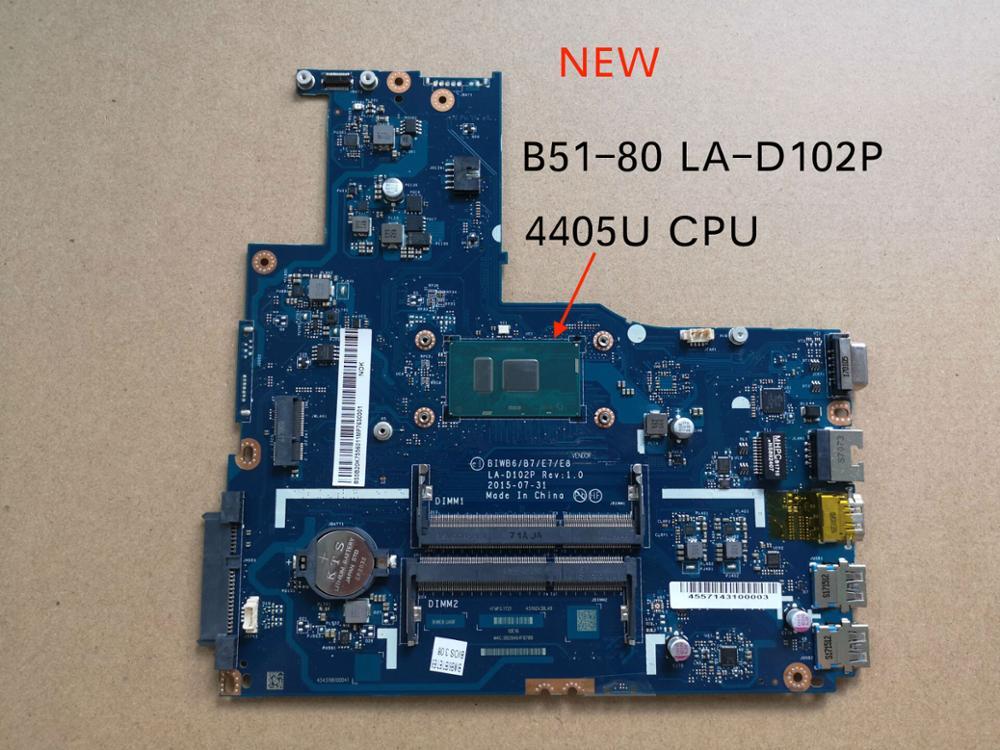 Tested For Lenovo B51 80 B51-80 BIWB6 B7 E7 E8 LA-D102P Notebook motherboard 4405U