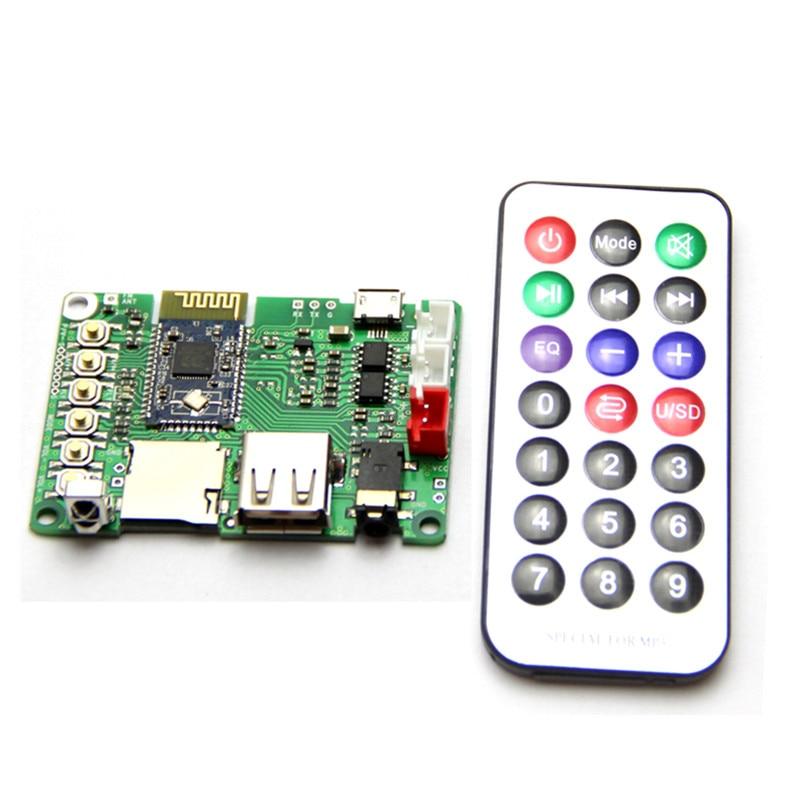 Dual 3W Bluetooth Amplifier Board V4.1 Stereo BK3254 Bluetooth Module FM Radio/TF Card/U Disk/ Infrared Remote Control