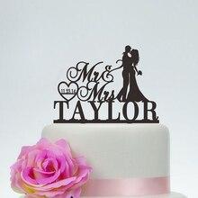Свадебный mr. и Mrs торт Топпер с фамилией, индивидуальные торт Топпер с фамилией и датой, персонализированные акриловые деревянные торт Топпе...