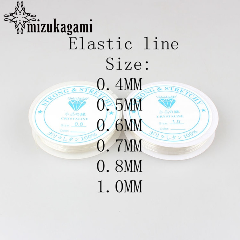 10 pc/lote Claro Cristal Beading Estiramento Cord Elástica Linha Transparente Rodada Beading Fio Descobertas Jóias DIY Acessórios