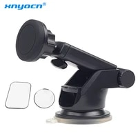 universal magnetic car mount mobile phone stand holder for iphone 76samsung solid series telescopic 360 rotation tablet mount