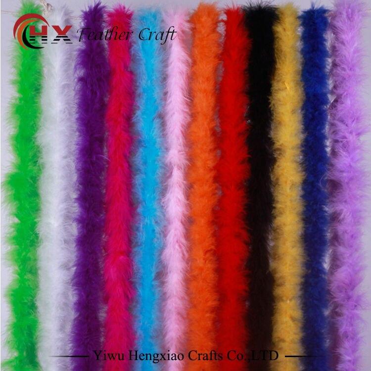 Turkey Feather Boa Turkey Feather Strip Fluffy Craft Decoration Chandelle Feather Boa Marabou Boa