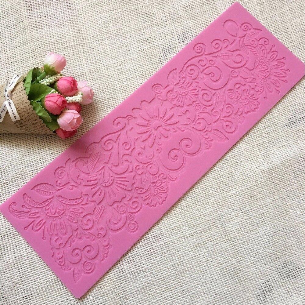 Spitze silikonform Spitze fondant kuchen dekorieren tool Mousse trimmen werkzeuge Schokolade prägeform