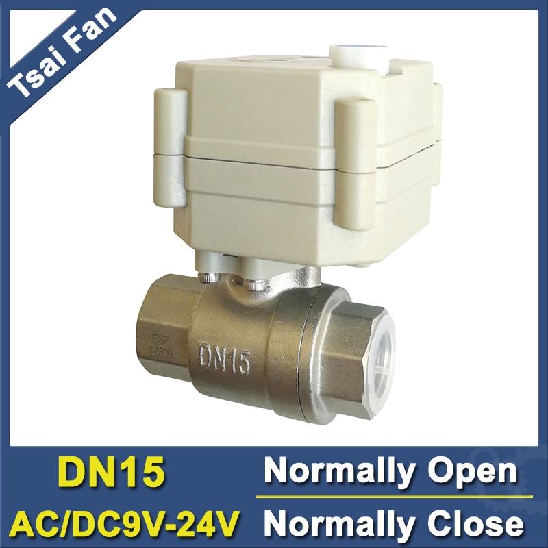 TF15-S2-B DN15 нержавеющая сталь нормальный закрытый/открытый клапан 2/5 Провода BSP/NPT 1/2 AC/DC9V-24V Электрический водяной клапан