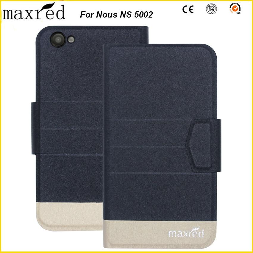 ¡Maxred 5 colores originales! Nous NS 5002 alta calidad Flip Ultra-delgada de cuero de lujo para la caja protectora de la Nous NS 5002