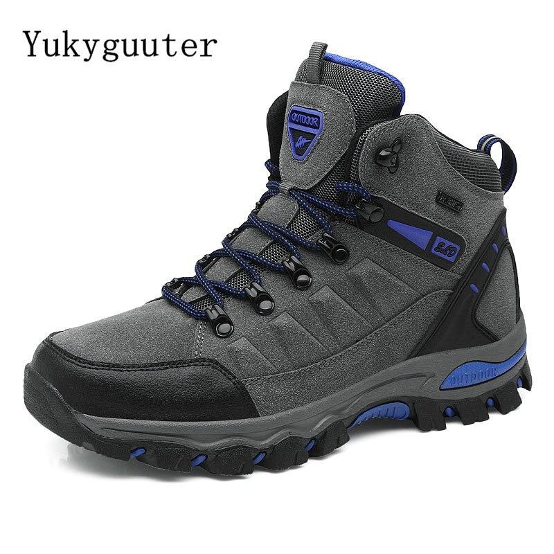 Men Hiking Shoes Outdoor Walking Jogging Trekking Boots Mountain Climbing Travel Sport Shoes Male Waterproof Sneakers Athletic