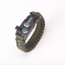 High-Jump Multi Functional Emergency Paracord Bracelet Survival Parachute Outdoor Tools Scraper Whis