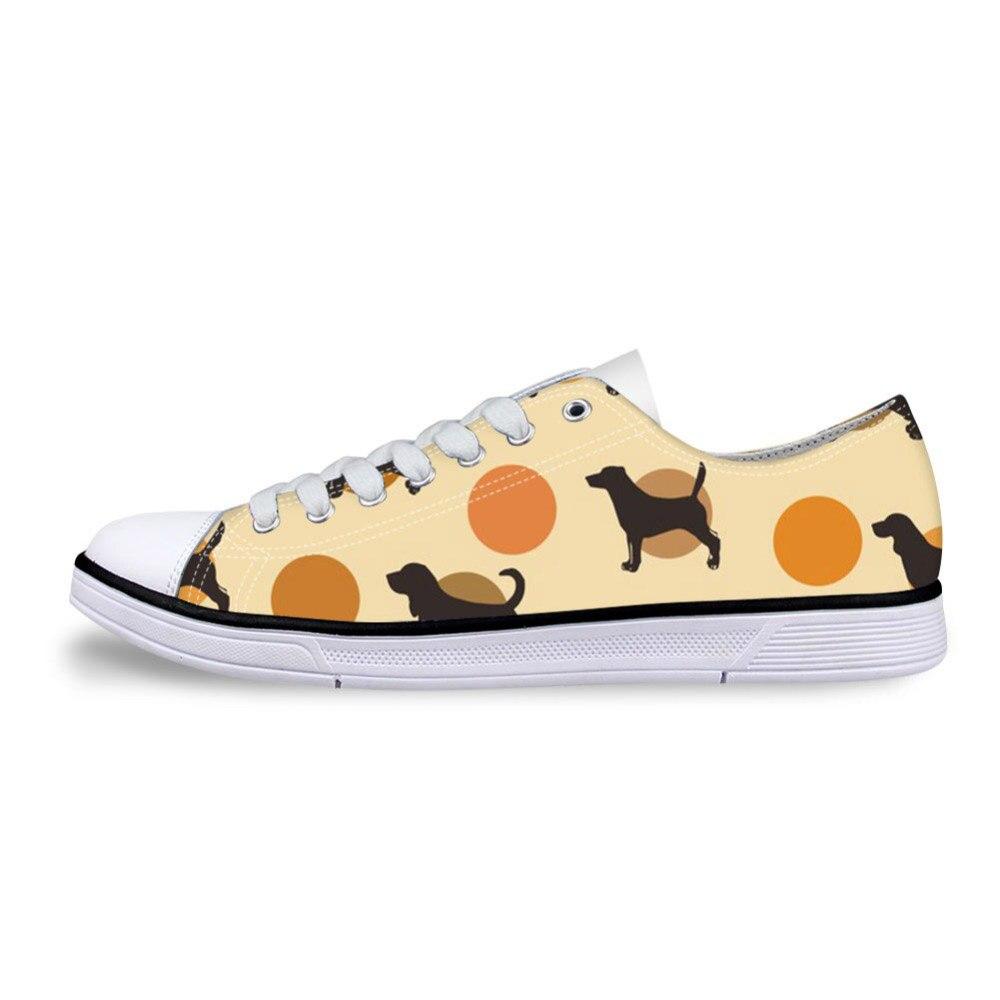 Zapatos de lona con estampado de perro Bull Terrier diseño de Mujer Zapatos vulcanizados de estilo bajo para mujeres planos de encaje ocio zapatos de Mujer