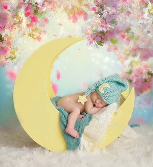 Newborn Baby Shower Flower Photo Backdrops Wood Floors Backgrounds for Photography Studio Little Boy Backdrop Vinyl Cloth 759