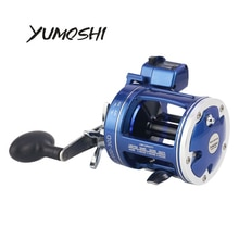 YUMOSHI Angeln Reel ACL600-30D/AC60-30D/ACL600-50D Blau Trommel 5.21 getriebe Rtio 12 BB mit Zähler Fisch Angelrute Angehen Pesca