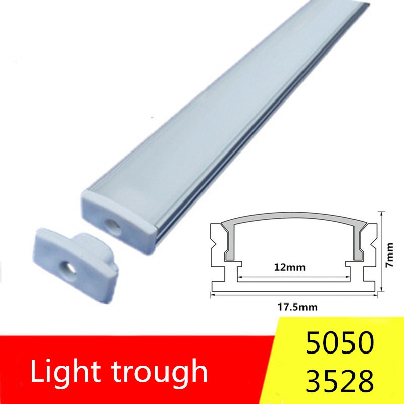 2-30 sets / pack 0.5 m 12 mm with aluminum profiles for 5050 5630 LED strip aluminum alloy flat shel
