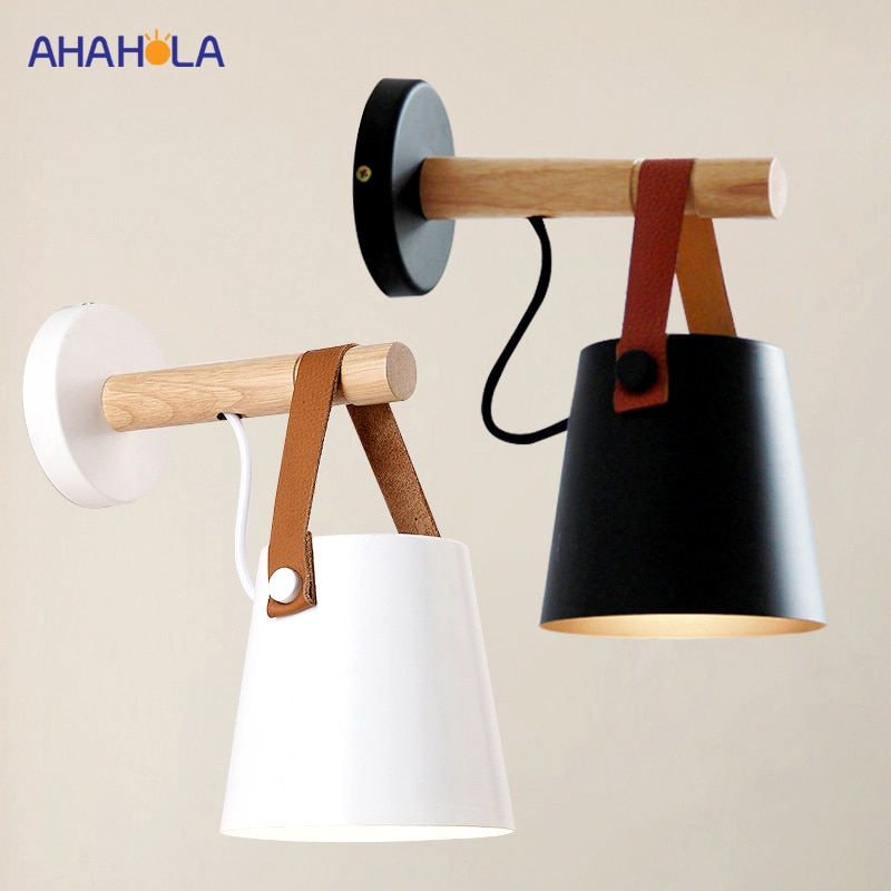 Lámpara de pared moderna E27, luces Led de interior blancas y negras, lámpara Led moderna, lámpara de pared, luces de pared, lámpara nórdica de hierro Aplik Lamba