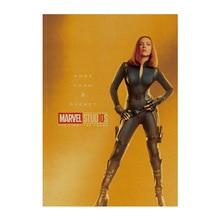 Black Widow / Marvel Comics 10 years HERO SET/kraft paper/bar poster/Wall stickers /Retro Poster/decorative painting 51x35.5cm