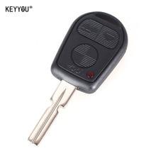 KEYYOU 3 Button Remote Key Shell Fit For BMW E31 E32 E34 E36 E38 E39 E46 Z3 Z4 Case Fob 3 BTN Uncut Key Fob Case