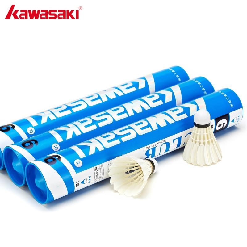 Kawasaki marca pato pena peteca badminton bola velocidade 76 77 durável badminton treinamento peteca clube 6