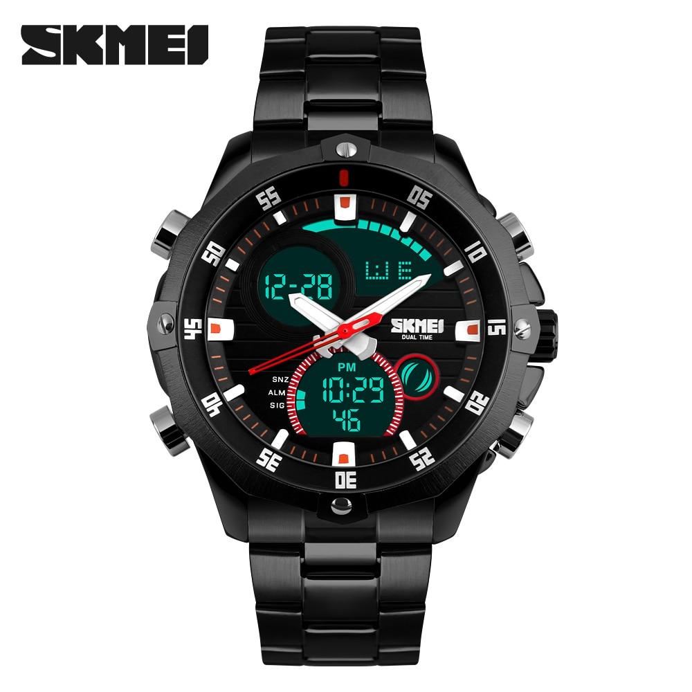 SKMEI Luxury Brand Watches Men Fashion Casual Business Sports Wrist watches Dual Time Digital Analog Quartz Watch Clock Men