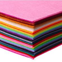 Недорогая фетровая ткань из полиэстера 15x15 см, 40 шт./партия, ручная работа, шитье, домашний декор, толщина 1 мм, 40 разных цветов
