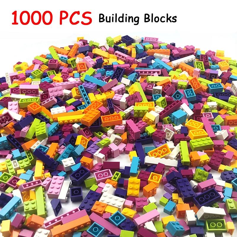 ¡Oferta! 1000 piezas de bloques de construcción de ciudad DIY, bloques creativos a granel, modelo de figuras educativas para niños, juguetes compatibles con todas las marcas
