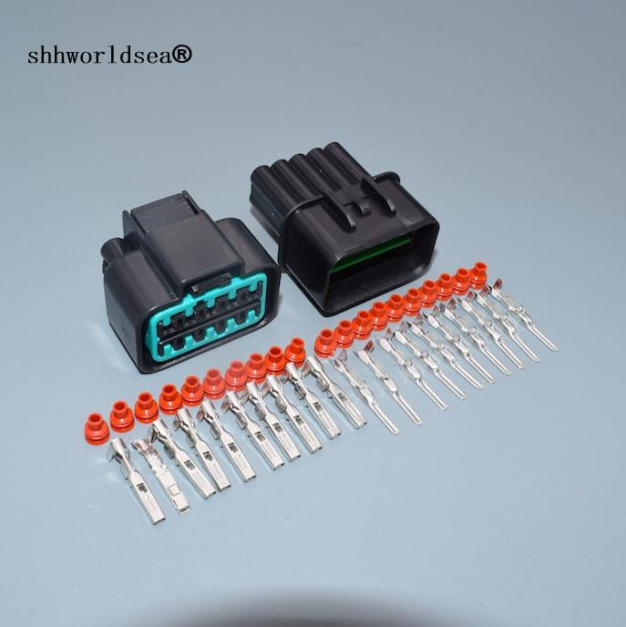 Shhworlsea 2/5/10/30/100 juegos 10 pin 2,2mm conector automotriz hembra macho impermeable Auto Plug PB625-10027 PB621-10020