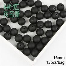 Perles Loose rondes de haute qualité   2 couleurs en plastique ABS mat givré, accessoires décoratifs faits à la main pour noël, bricolage, 6 à 16mm