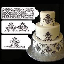 3 pièces/ensemble pochoir Fondant gâteau décoration outils moule pâtisserie outils de cuisson décoration pour gâteau
