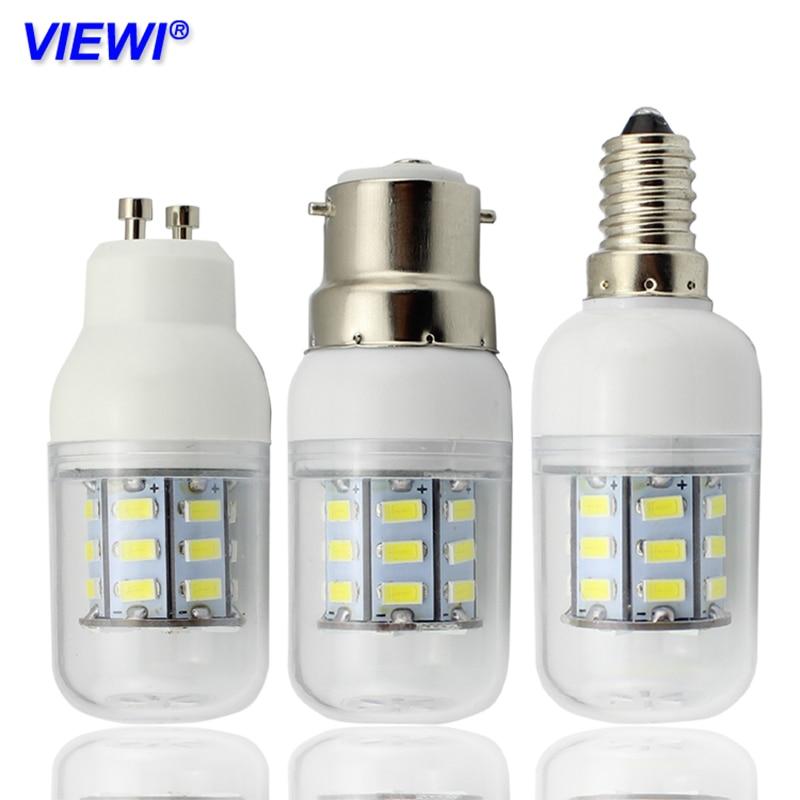 Светодиодная лампа bombillas, E27, E14, E12, B22, GU, 10, G9, 4 Вт, 220 В, 110 В, smd, 5730, 27 светодиодов, 12 Вольт
