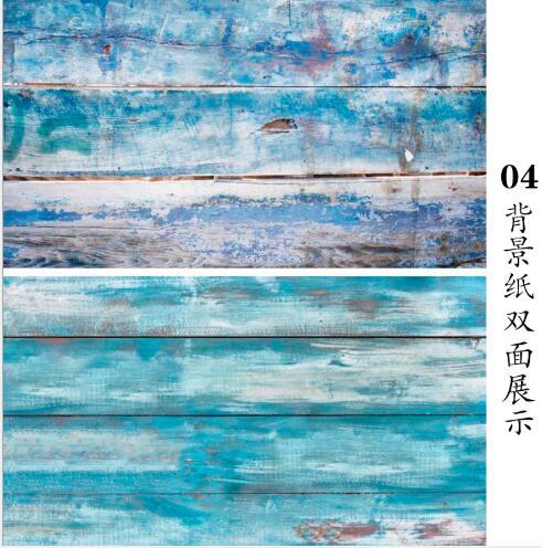 57*87cm pared de cemento de mármol de doble LADO DE MADERA como fondo de fotografía Vintage fondo de papel tablero Prop para alimentos