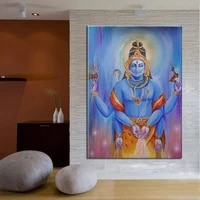 pure hand painted india lord shiva oil painting on canvas modern abstract decorative wall pictures home decor
