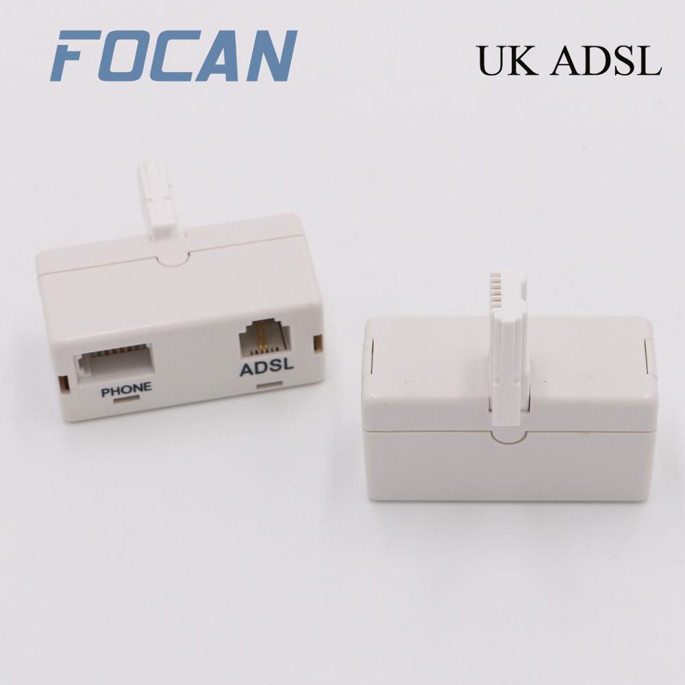 ADSL фильтр широкополосный интернет микрофильтр/сплиттер Великобритания