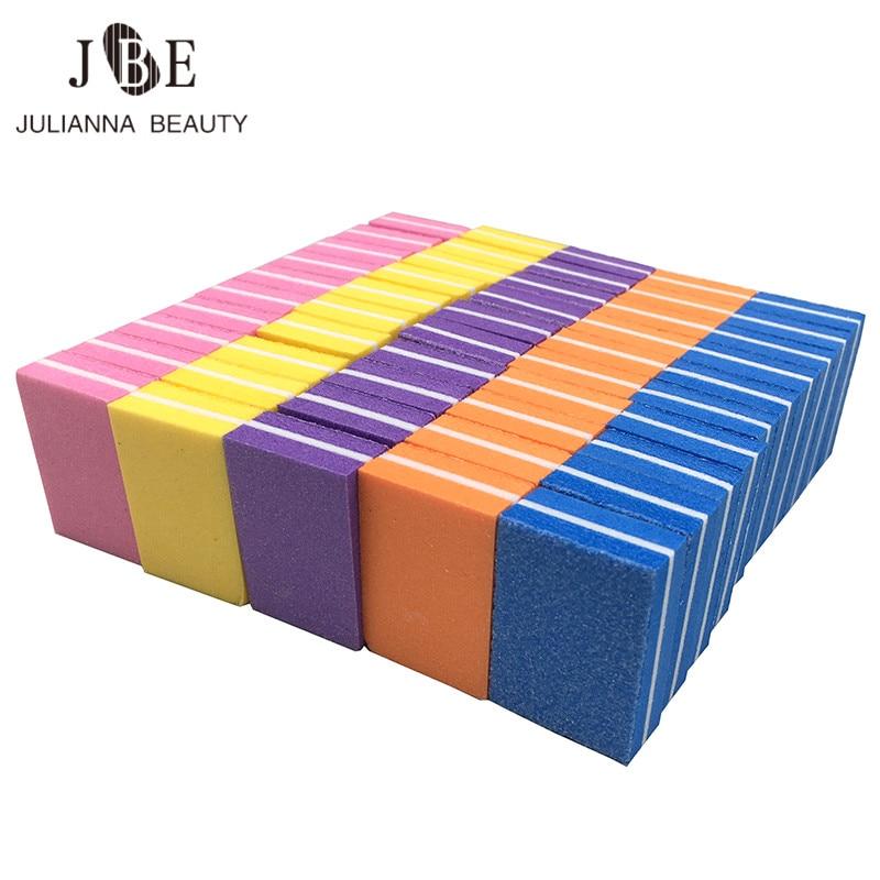 20 pçs/lote blocos de arquivo de unha dupla face mini colorido esponja unha polonês ferramenta lavável placa de esmeralda profissional manicure conjunto