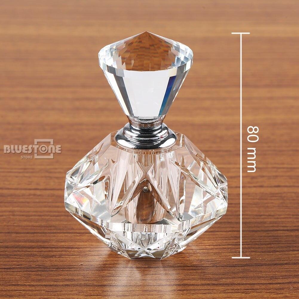 Botella de Perfume de cristal tallado transparente de 5 ml, botella artística de regalo recargable, nueva