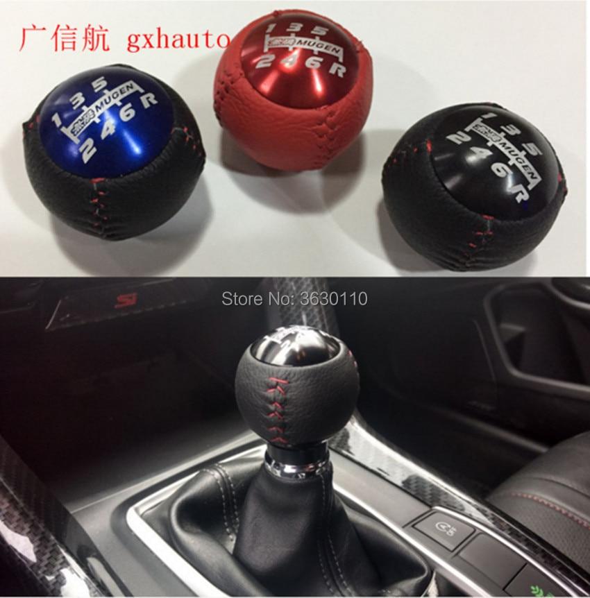 Для mugen стиль черный/красный 5/6 скорость M10X1.5 Mugen ручка переключения передач кожа для H0nda EK9 EP3 FN2 DC2 DC5 S2000 FD2